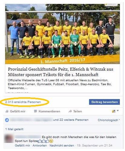 sponsor werden fb