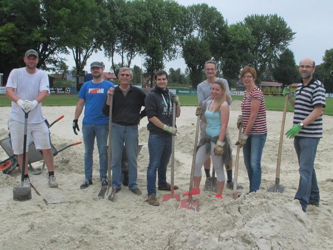Renovierung Beachplatz in Laer