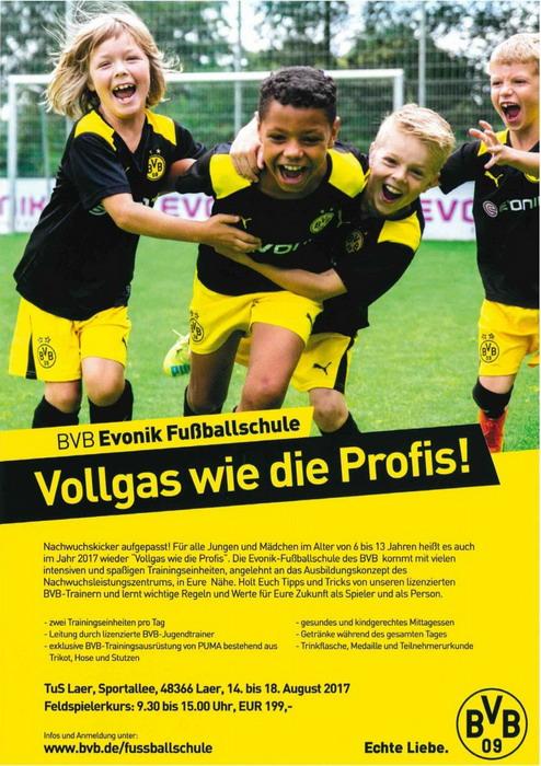 TuS Laer BVB Fußballcamp 2017