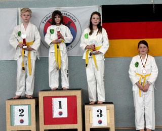 tus laer taekwondo vereinsmeisterschaft Disziplin Formenlauf bis gelbgurt