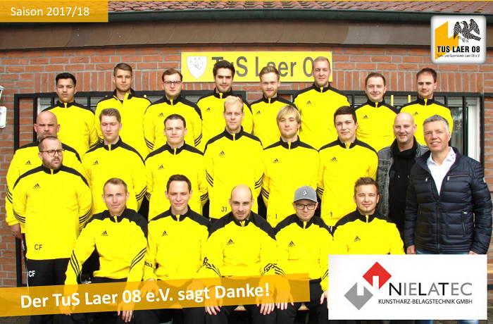 Nielatec sponsert Traininsanzüge für 2. Mannschaft