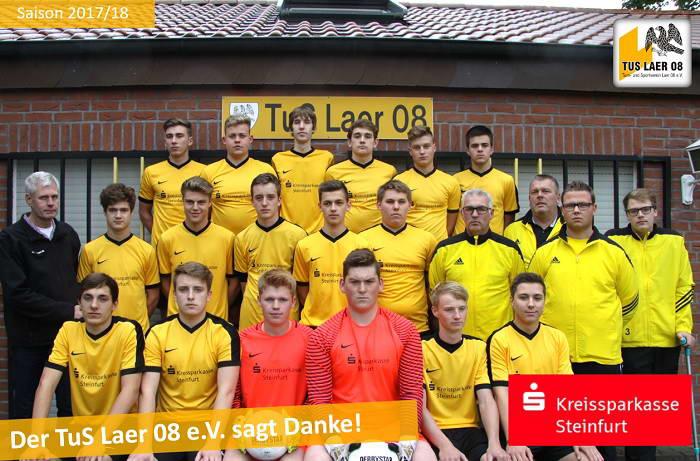 Kreissparkasse Steinfurt sponsort Trikosatz für 1. Mannschaft