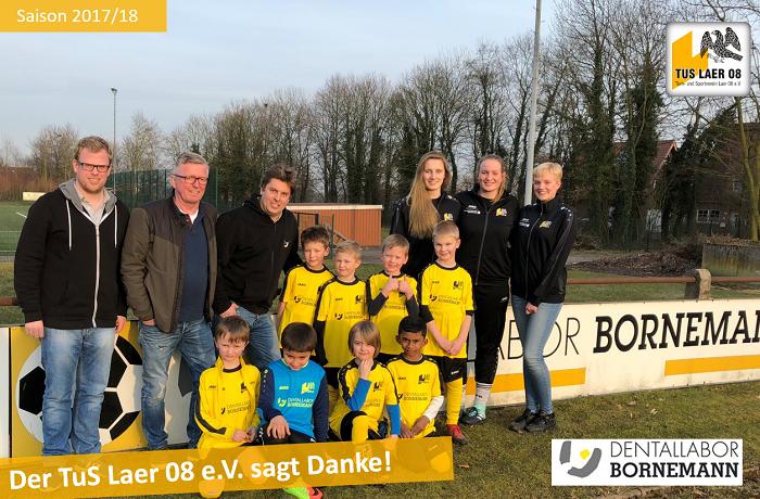 Bornemann sponsert Trikots für die F3-Jugend