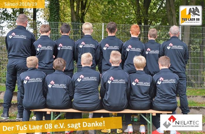 Nielatec sponsert Trainingsanzüge und Bälle für die C1