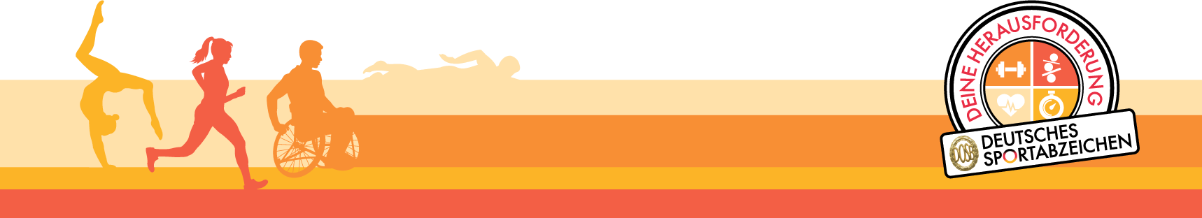 Sportabzeichen KeyVisual Stempel Farbe DINA4 Querformat