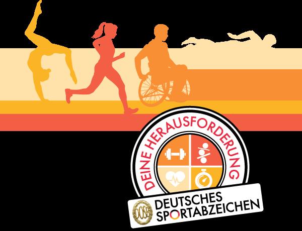 Sportabzeichen KeyVisual Stempel Farbe DINlang