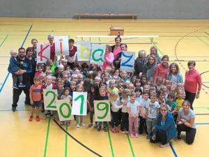 Dritte Kibaz Aktion des TuS Laer und der Kita St Bartholomaeus erfolgreich Ueber Kinder sporteln gemeinsam image width