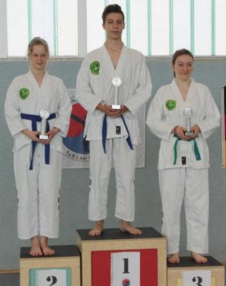 tus laer taekwondo vereinsmeisterschaft Disziplin Formenlauf bis blau brauner gurt