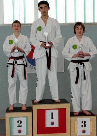 tus laer taekwondo vereinsmeisterschaft Disziplin Formenlauf bis einschließlich schwarzer Gurt