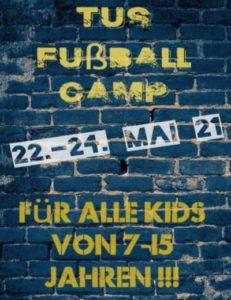 Tus laer fussball pfingstlager fussballcamp flyer mai