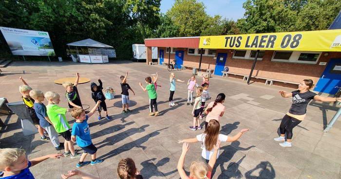 Aktion Sportabzeichen gemeinsam mit der Grundschule